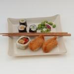 White sushi dish