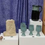 Sculpture, Goblets and jug